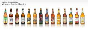 14 Biersorten der Vereinsbrauerei Apolda
